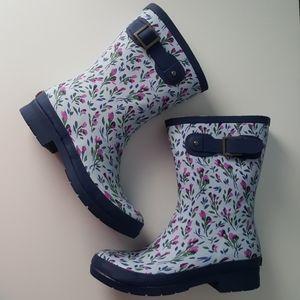 Chooka Rebecca Mid Rain Boots Light Blue